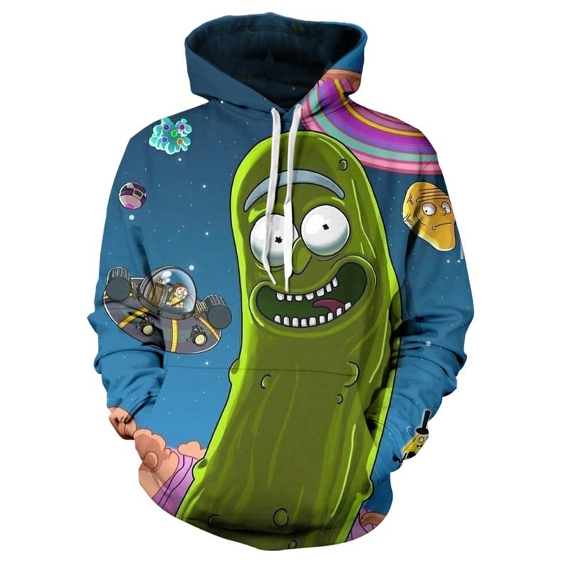 Rick And Morty New Fun 3D Printed Cartoon Men's Creative Design Color Pattern Cool Street Fashion Versatile Top Hoodie Xxs-6xl