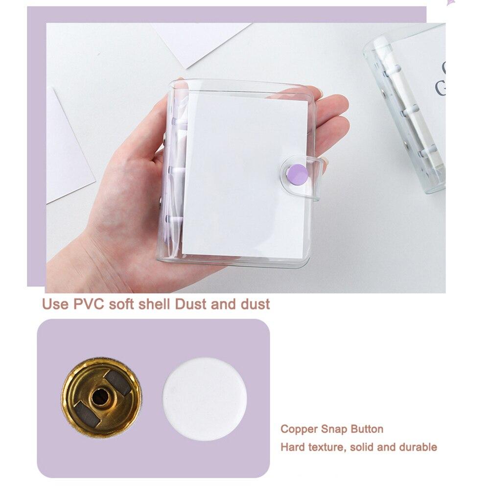 2020 New Creative Cute Transparent 3 ring Mini PVC Loose-leaf Hand Book Studenlb