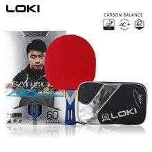 LOKI 6 Star Table Tennis Racket Ping Pong Racket Carbon Fiber Blade Bat Loop Pimples-In Rubber With Pingpong Bag Kalemlik
