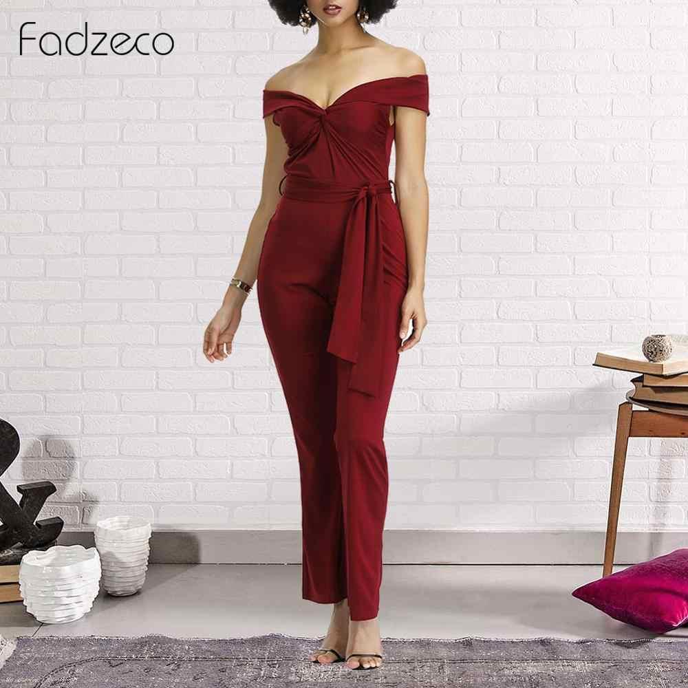 Fadzeco Африканский принт женские комбинезоны спецодежда этнические с открытыми плечами V образным вырезом широкие брюки комбинезон брюки элегантные летние комбинезоны