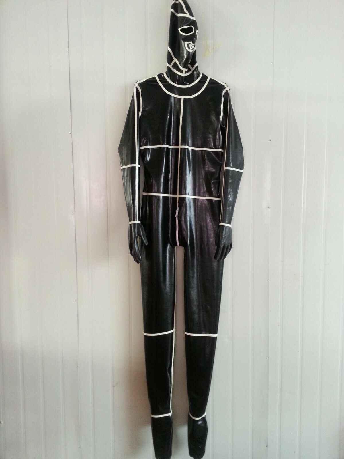 100% Lattice di Gomma Tuta di Modo di Spiderman Vestiti di uniformi Maschera Ganzanzug Catsuit0.4mmS-XXL