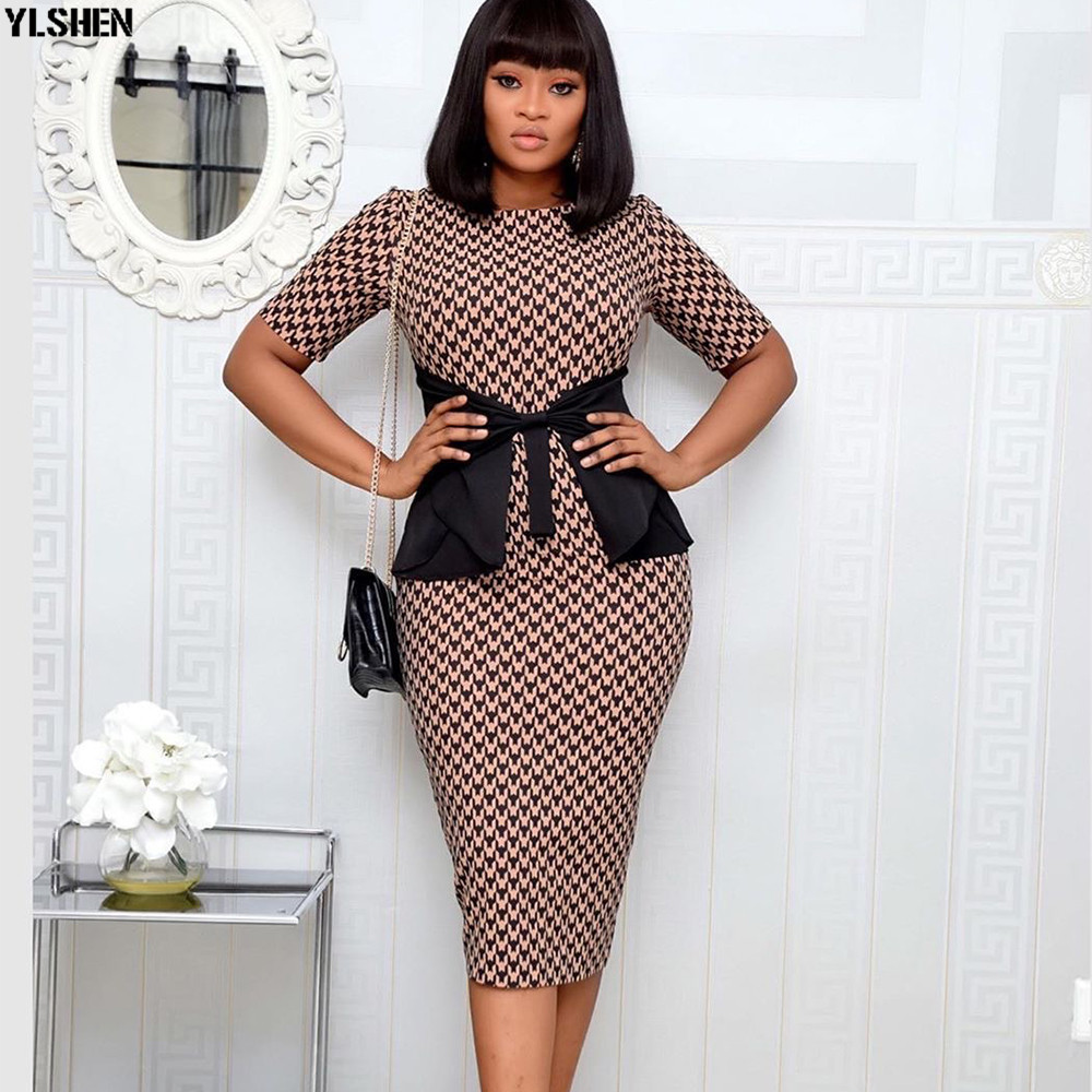African Style Dresses For Women Clothes 2020 Africa Clothing Summer Elegant Ankara Dresses Fashion Print African Dress For Lady
