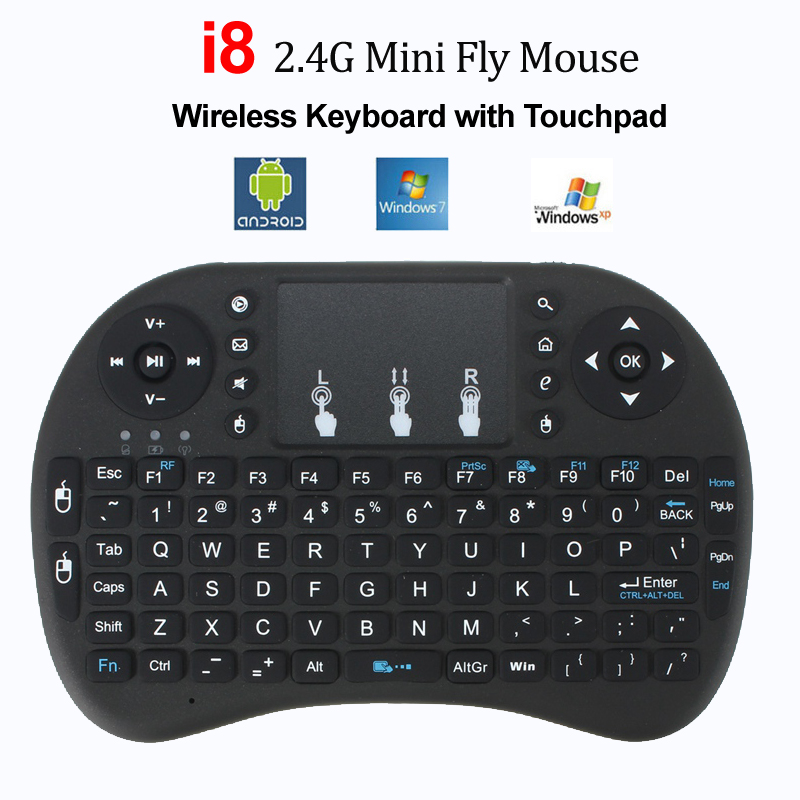 Russian Air Mouse Mini Wireless Keyboard Hebrew Touchpad Keyboards Remote Control for Android TV BOX PC PS3 Gamepad