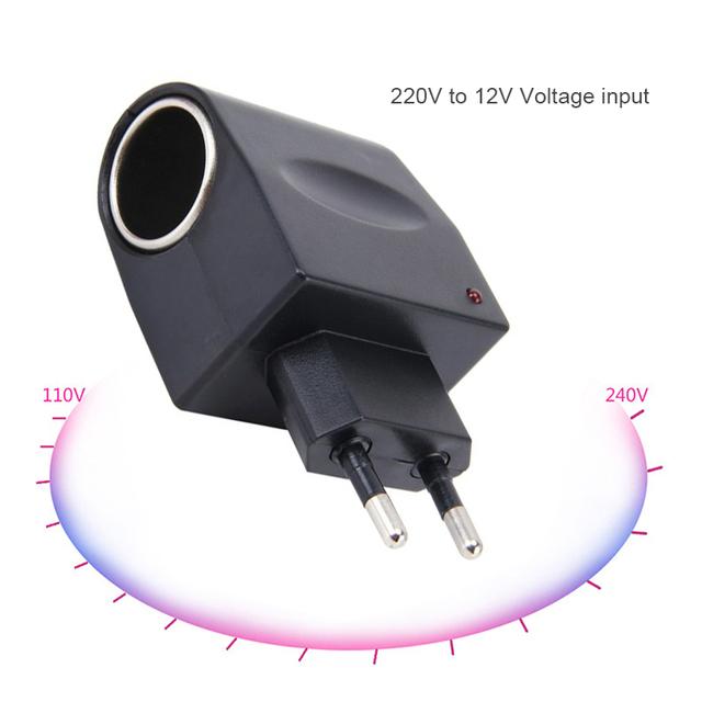 Wtyczka uniwersalna 220V AC do 12V DC zasilacz samochodowy przejściówka do gniazda zapalniczki samochodowej ue usa tanie tanio Liplasting