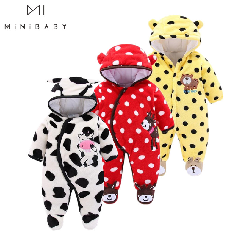 Spring - Winter Infant Coats Baby Girl Clothes  Jumpsuit Jackets Boys Winter Coats Outerwear Fashion Fleece Newborn Clothing