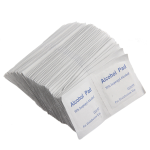 Professional 100Pcs Alcohol Wipe Pad Medical Swab Sachet Antibacterial Tool Cleanser 100% Top Good