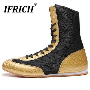 Botas de lucha para hombre y mujer zapatos de boxeo de diseñador para niño grande, zapatillas verdes de alta calidad, bota de boxeo
