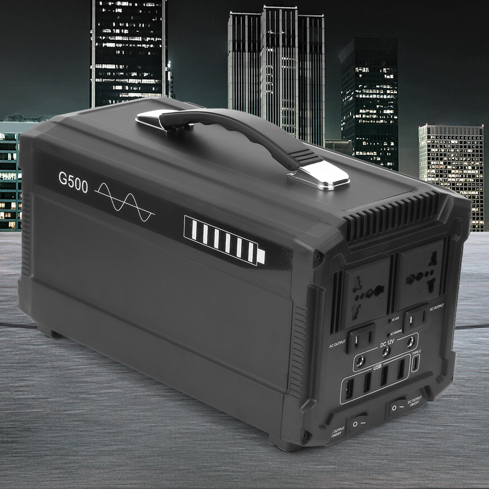 Solar Panel Charging Solar Generator with Lighter Interface Output Used as Traditional UPS 5