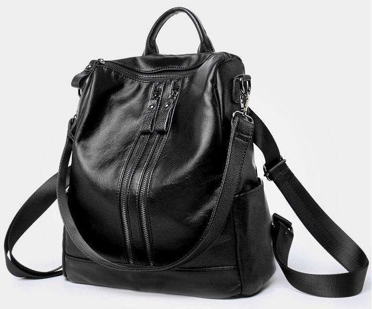leveza bagpack versão coreana mochilas de couro