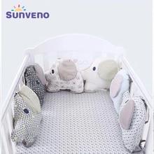 6pcs/set Elephant Shape Baby Bed Bumper Carton Pillow Cushion Bumper for Infant Bebe Crib Protector Cot Bumper Baby Bedding Set