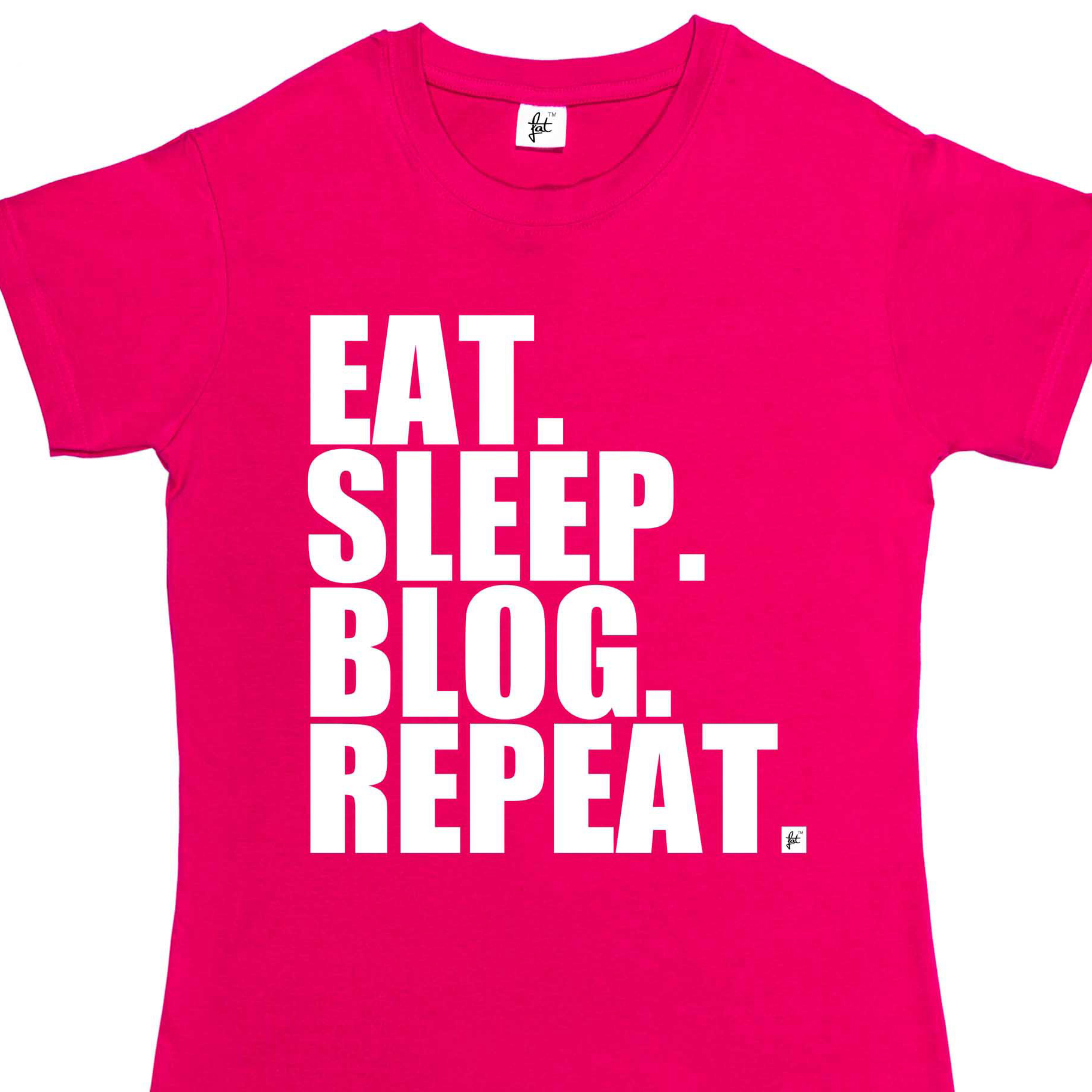 Women'S Tee Eat Sleep Blog Repeat Social Blogger Womens Ladies T Shirt Letter Print Harajuku Punk Tshirt image