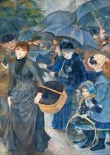 Pierre auguste renoir: os guarda-sóis pinturas a óleo quadros em tela arte da parede para sala de estar decoração do quarto