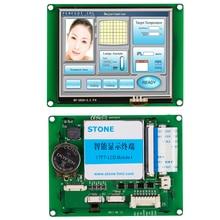 Tela eletrônica do módulo do lcd do exportador de pedra com memória flash e software programável