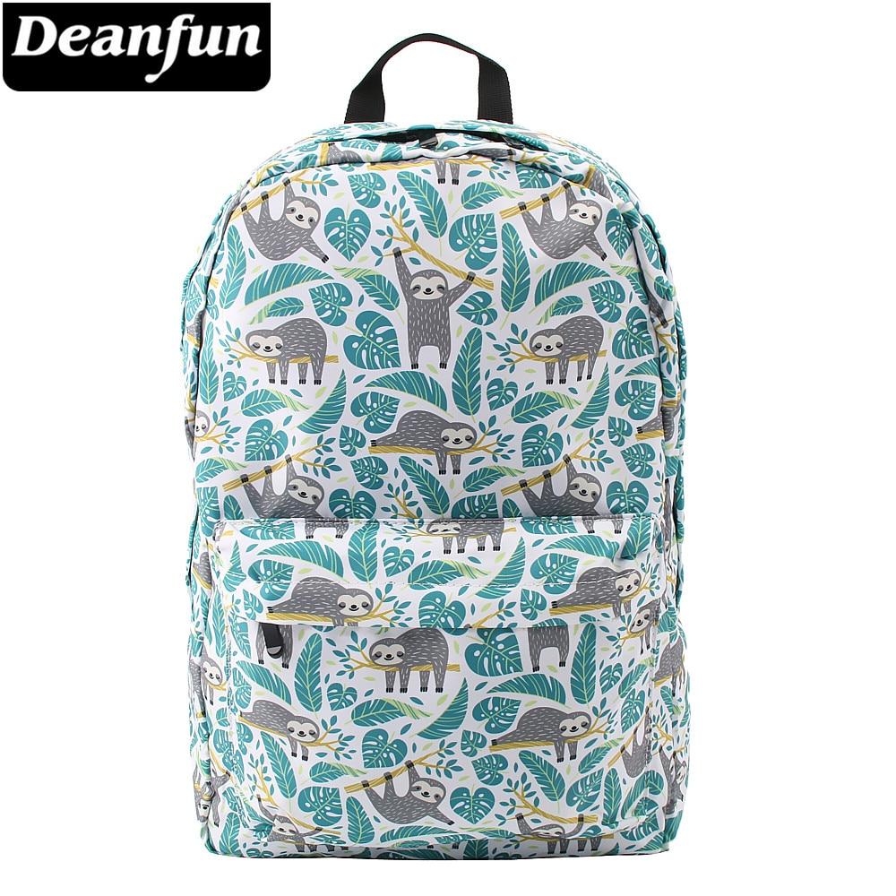 Deanfun Backpack Women Sloth 3D Printing Travel Backpack Waterproof Laptop Bag School Bags For Teenage Girls 80049