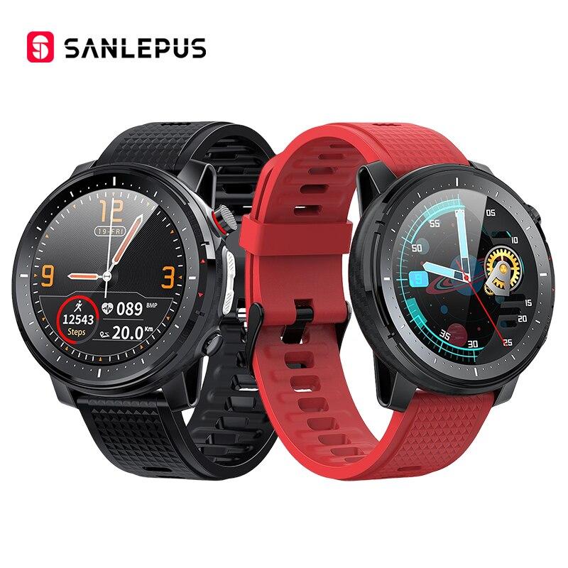 SANLEPUS Смарт-часы 2021 ЭКГ Smartwatch IP68 из водонепроницаемого материала для мужчин и женщин Спорт Фитнес браслет часы для Android Apple, Xiaomi, Huawei 1