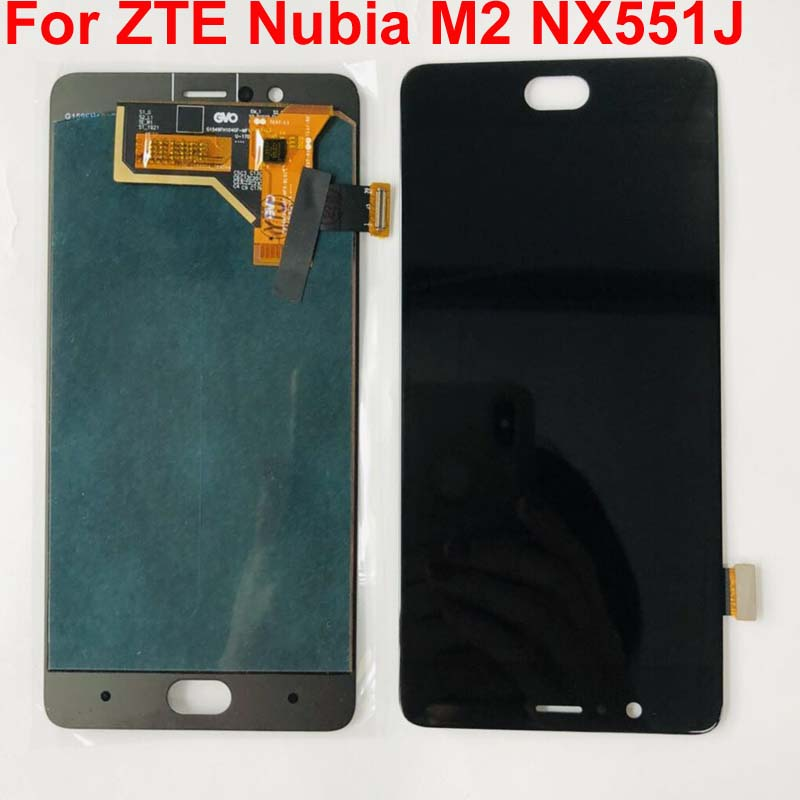 AAA tested For ZTE Nubia M2 NX551J LCD Display Touch Screen Digitizer For ZTE Nubia M2 Display Assembly Replacement Screen LCD(China)