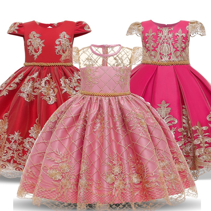 Lace Flower <font><b>Dress</b></font> for Girls Princess <font><b>Dress</b></font> <font><b>4</b></font> 6 810 <font><b>Years</b></font> <font><b>Birthday</b></font> Party Children Clothing Embroidery Backless Kids Wedding Gown image