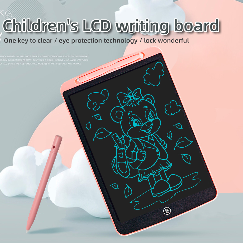 12 inches intelligent colorful LCD writing tablet digital drawing Message graphic board kids writing board write pad Gift
