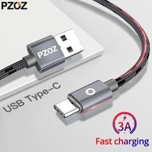 PZOZ USB Tipo C Carga rápida usb c Tipo c cable de datos teléfono Cargador para ipad pro 2018 samsung S9 S8+ note 9 8 pocophone F1 Xiaomi Mi 8 SE mix3 2s A2 Lite 6X cable para cargar teléfono usb tipo c cable adaptador