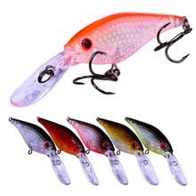 YUZI 1pc 6 color Minnow Fishing Lures 4.5g-0.16oz Tackle 8.2cm-3.23 Bait Lure 8# Hook Top Sale