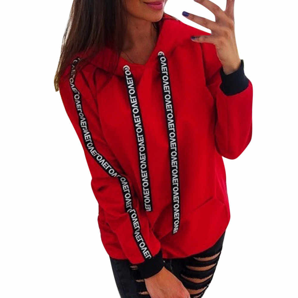 Jaycosin Fashion Women Plus Size Long Sleeve Solid Sweatshirt Casual Cool Chic New Look Comfortable Pullover Crop Top