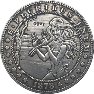 Hobo Nickel USA Morgan Dollar 1878-CC COIN COPY Type 129(China)