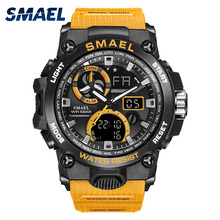 Sport Watch Men SMAEL Brand Toy Mens Watches Military Army S Shock 50m Waterproof Wristwatches 8011 Fashion Men Watches Sport new smael watch men g style wateproof s shock sport mens watches top brand luxury led digital watch military army wristwatches