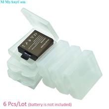 6 шт. прозрачный пластиковый защитный чехол Коробка для хранения батареи для GoPro Hero 5 4 C30 SJCAM SJ8 SJ7 Eken H9 H9R Xiao Yi 4K камера