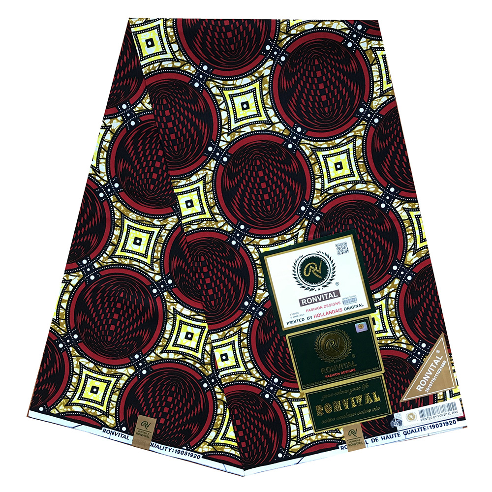 New Guaranteed Real Dutch Wax Block Prints In Original Wax 100% Cotton Veritable Wax Veritable African Ankara Fabric