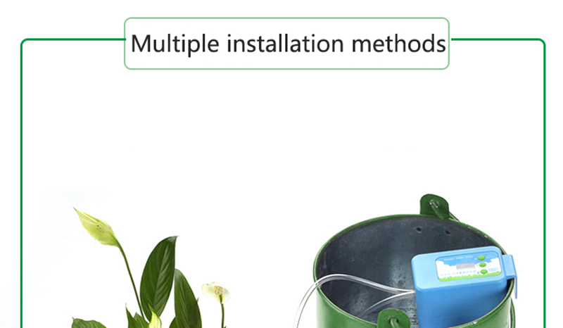 Hdd40866314184e22bb34b3de7279f5610 Automatic Drip Irrigation System Pump Controller Watering Kits with Built-in High Quality Membrane Pump Used Indoor