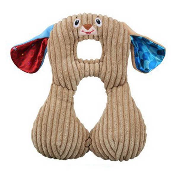 Lindo Animal en forma de U almohada para el cuello almohada de viaje cojín de descanso para adultos niños durmiendo fácil de tomar almohadas de dibujos animados P26