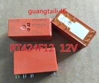 5 pces-10 pces rt424f12 115f-2c-12v RT424F12-12V dip-9 magnético segurando as peças originais novas do relé