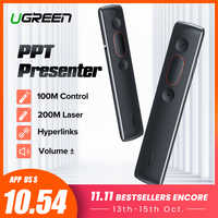 Ugreen Remote Controller Presenter Wireless 2.4GHz USB Control Pen For Mac Win 10 8 7 XP Projector Powerpoint PPT Laser Pointer