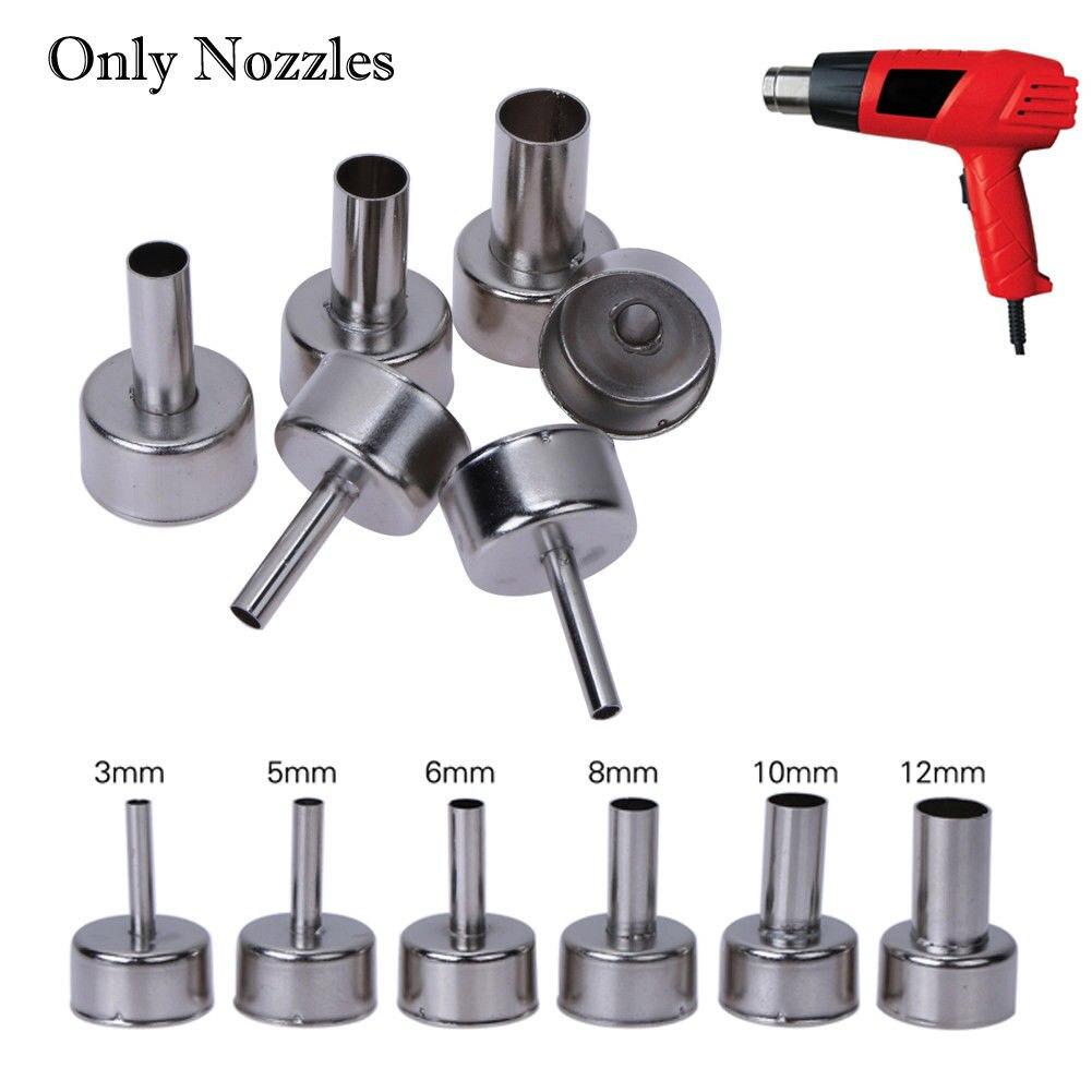 6Pcs Heat Gun Nozzles Solder Kit Tool For 868/898/858 Hot Air Soldering Station
