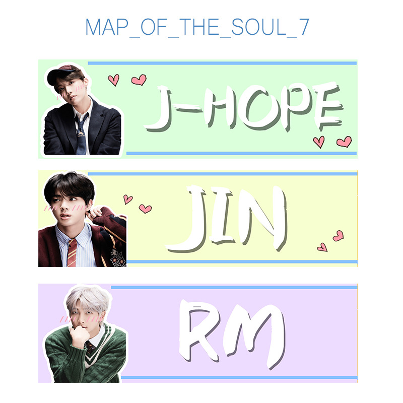 Bulletproof Boys Bangtan Boys MAP OF THE SOUL 7 Tour Support Slogan Tags Jewelry Display GU206