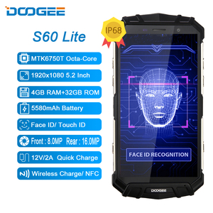 Image 2 - DOOGEE S60 Lite IP68 Wireless Charge Smartphone 5580mAh 12V2A Quick Charge 16MP 5.2 FHD MTK6750T Octa Core 4GB 32GB NFC Phone