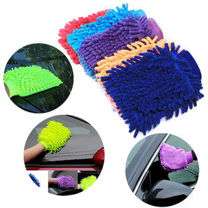 Double Sided Microfiber Washing Hand Gloves Car Window Dust Cleaning Glove Household Cleaning Towel Kitchen Accessories 1227