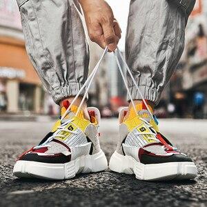 Кроссовки мужские цветные, Повседневная модная трендовая обувь, дышащие, массивные, осень Повседневная обувь      АлиЭкспресс