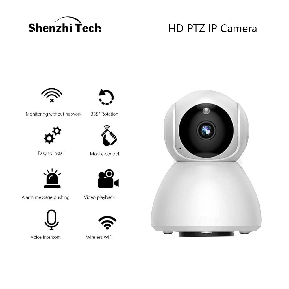 IP Camera Home HD Security Camera With Rotatable Night Vision Motion Detection WiFi Camera For Monitoring Home Office CCTV Cam