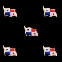 5PCS Panama Souvenir Epoxy Multicolor Waving National Flag Lapel Pins and Brooch Fashion Badge Medal Decorations 5pcs fashion flag badge flag pin france waving flag lapel pins epoxy medal brooches jewelry