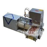 220V 15W 자동 양고기 스트링 기계 케밥 꼬치 기계 스테인레스 스틸 오징어 고기 대나무 스틱 스트링 기계