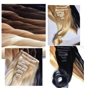 Doreen бразильские волосы Remy с полной головкой 120 г #60 блонд 16 дюймов-22 дюйма натуральные прямые человеческие волосы для наращивания на заколка...