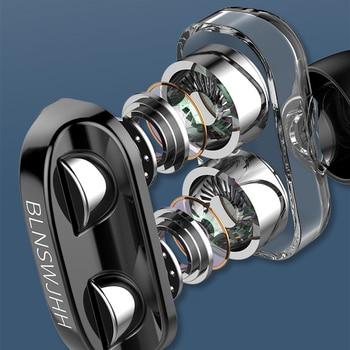 Auriculares con Cable HiFi, altavoz de cuatro núcleos Dual-dinámico, auriculares intraurales de 3,5mm, Cable Flexible con micrófono fone de ouvido