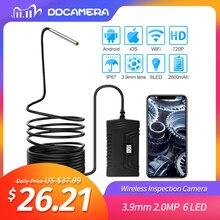 3,9 мм 2.0MP Беспроводная Инспекционная камера IP67 Wifi эндоскоп камера с 6 светодиодами для Android и IOS смартфонов, iPhone, Samsung