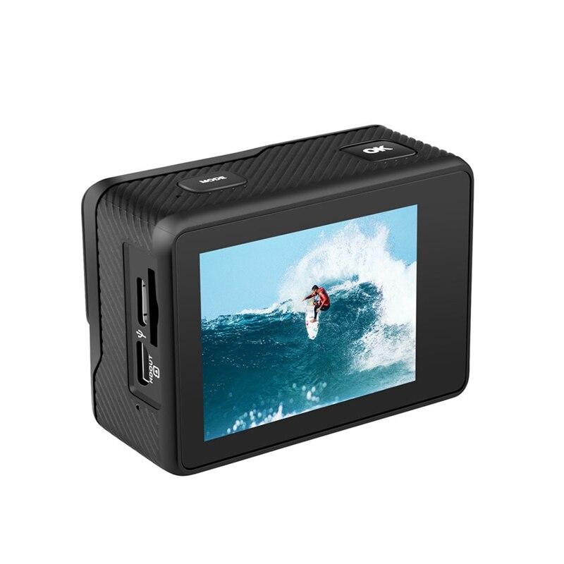 Cámara de Acción AT-Q60C 4K 60FPS 24MP 2,0 pulgadas cámara web IPS Sn impermeable Pro Helmet Cam Cámara deportiva
