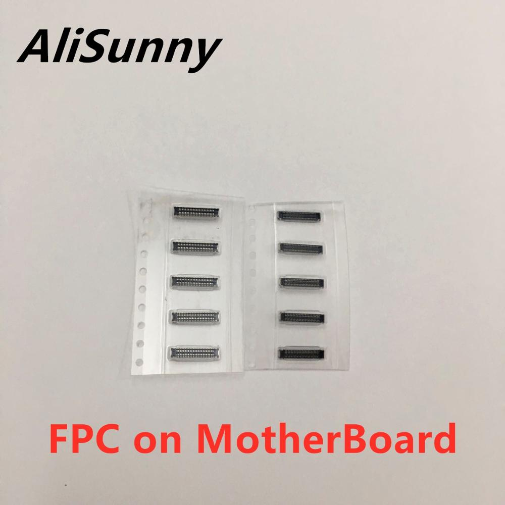 AliSunny 10pcs Touch Screen Plane TP LCD FPC Connector for iphone 6 6S 7 8 plus 5S Digitizer on Logic Board Montherbord