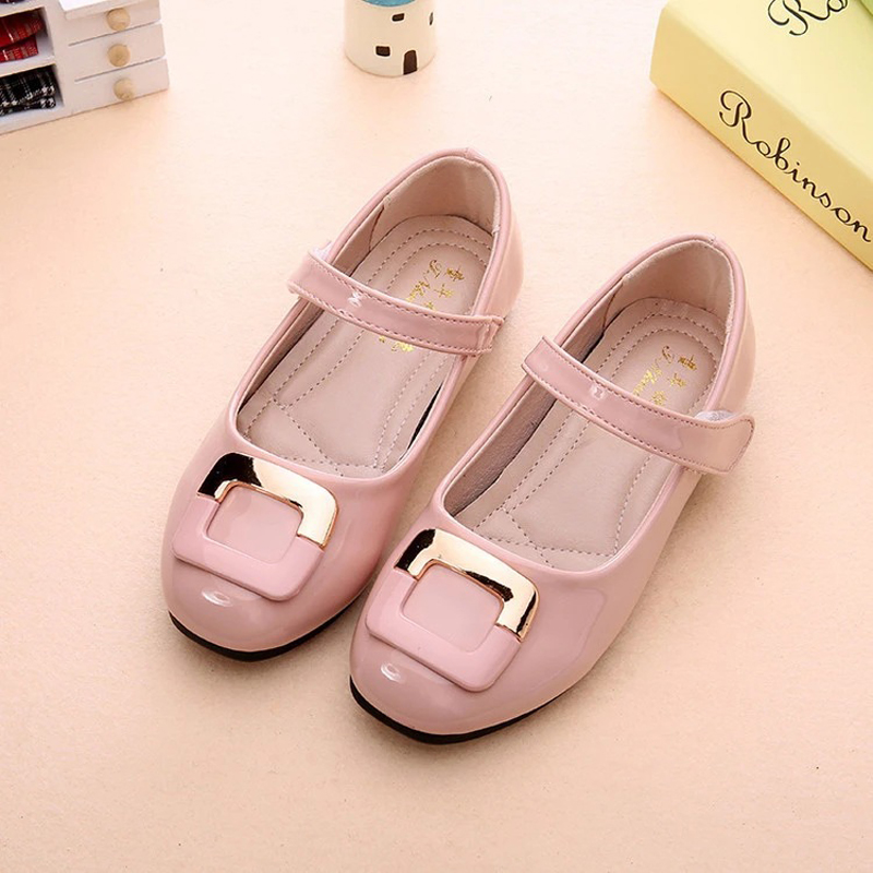 Girls Shoes 2019 Autumn New Japanned Leather Shallow Princess Single Shoes For Girl Kids Tide Flats Loafers туфли для девочки