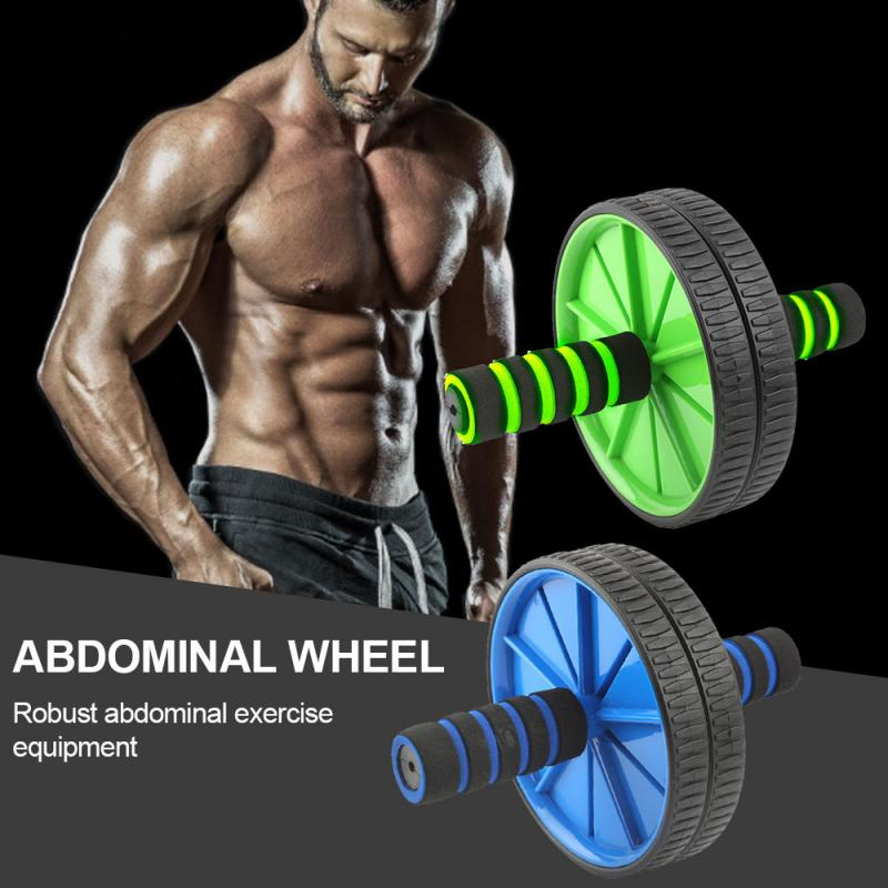 2020 Abdominal Exercise Rope Wheel Home Fitness Muscle Exercise Equipment Abdominal Power Training With 2PCS Elastic Pull Rope