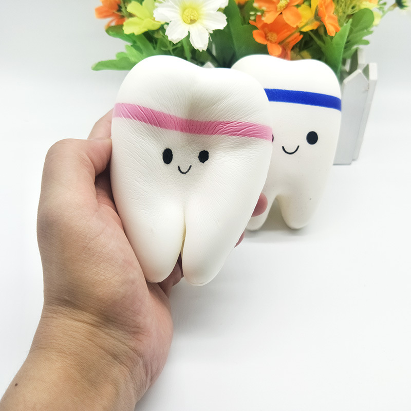 New Listing Of Super Cartoon Teeth Pendant Elastic Slow Slow Rebound Decompression Toys To Vent  Squishies Toys