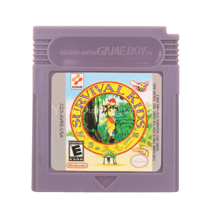 For Nintendo GBC Video Game Cartridge Console Card Survival Kids English Language Version 1